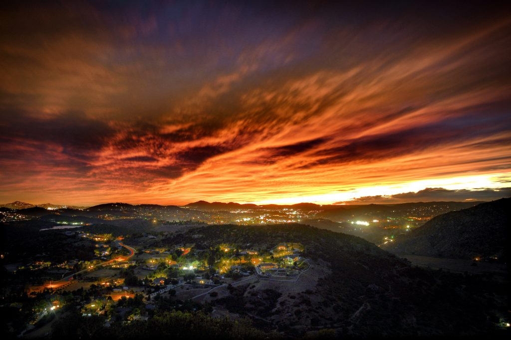 Blossom Valley Sunset. California. Sky on fire, California sunset, Nikon D7500 with AF-S 18-105 .  f6.3 - 25 secs - 50 ISO.